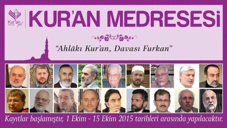 Kur'an Medresesi Kayıtları Başladı